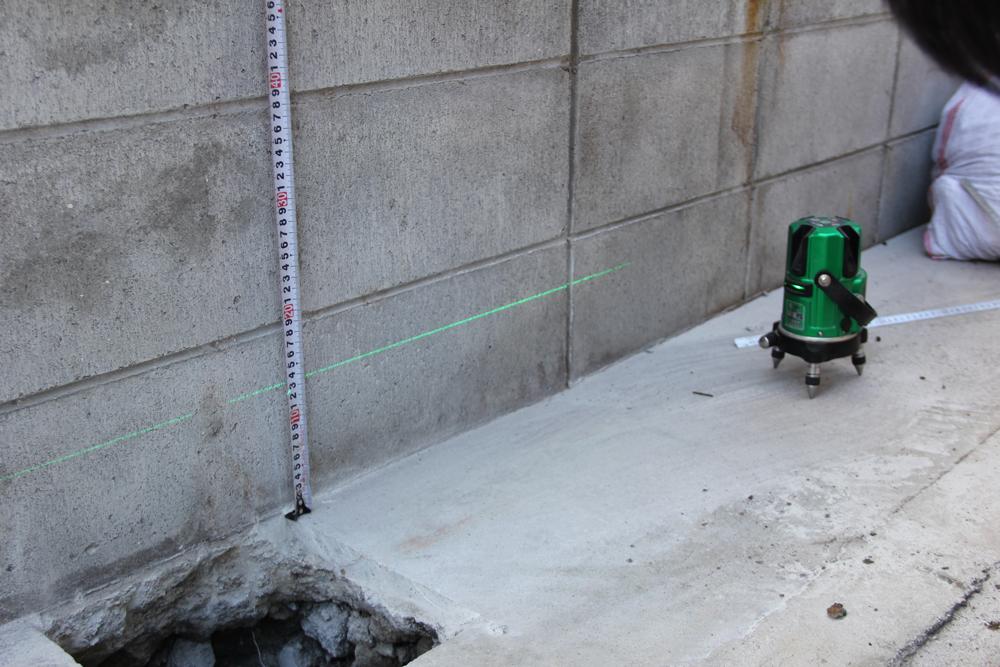 レーザーは正確に位置を測ることができます。