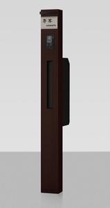 スリムタイプの機能門柱