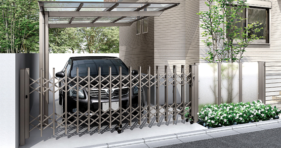 伸縮ゲート。