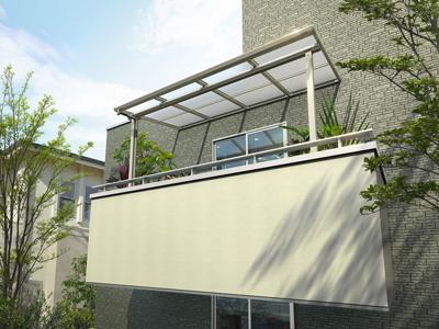 YKK APのヴェクターテラス屋根単体バルコニー用